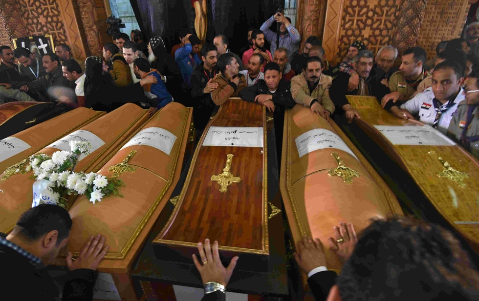Egypt military court sentences 17 to death over church bombings
