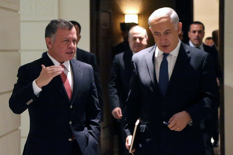 Netanyahu and Jordan's Abdullah discuss 'advancing peace' at Amman meeting
