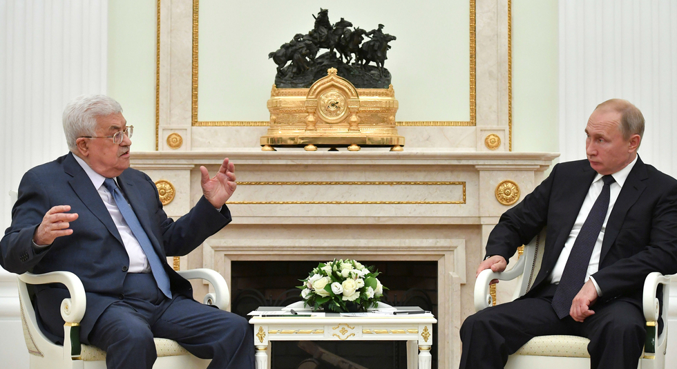 Abbas in Moscow tells Putin of concerns over US 'deal of the century'