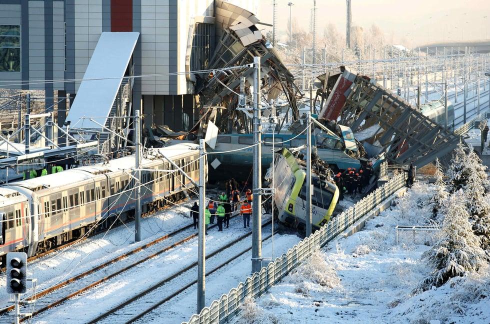 Seven dead after Turkish high-speed train crashes in Ankara