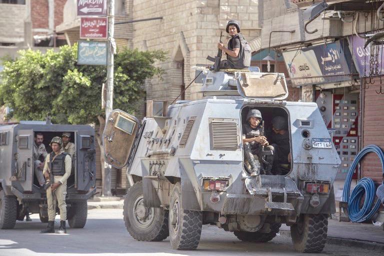 Egyptian forces kill 12 suspected militants in Sinai raid