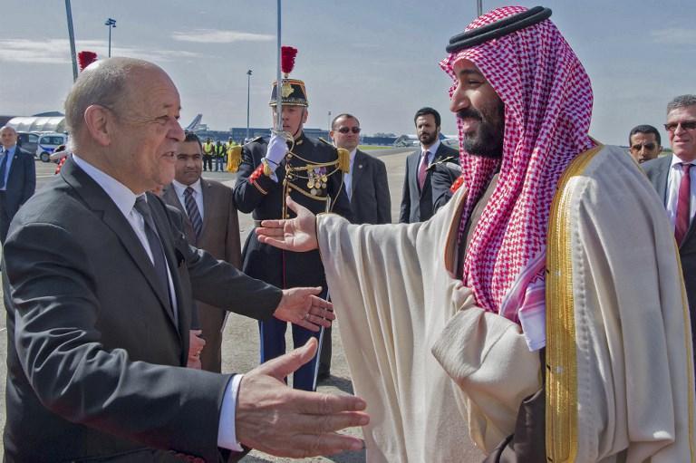 Saudi crown prince arrives in France on global tour