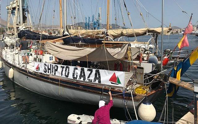 Israeli navy intercepts activist boat trying to break Gaza blockade