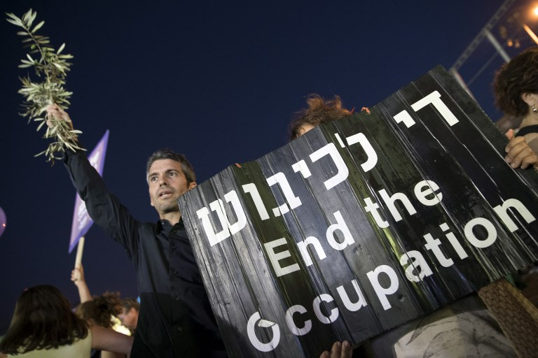 Israelis rally for Palestinian state, end of occupation