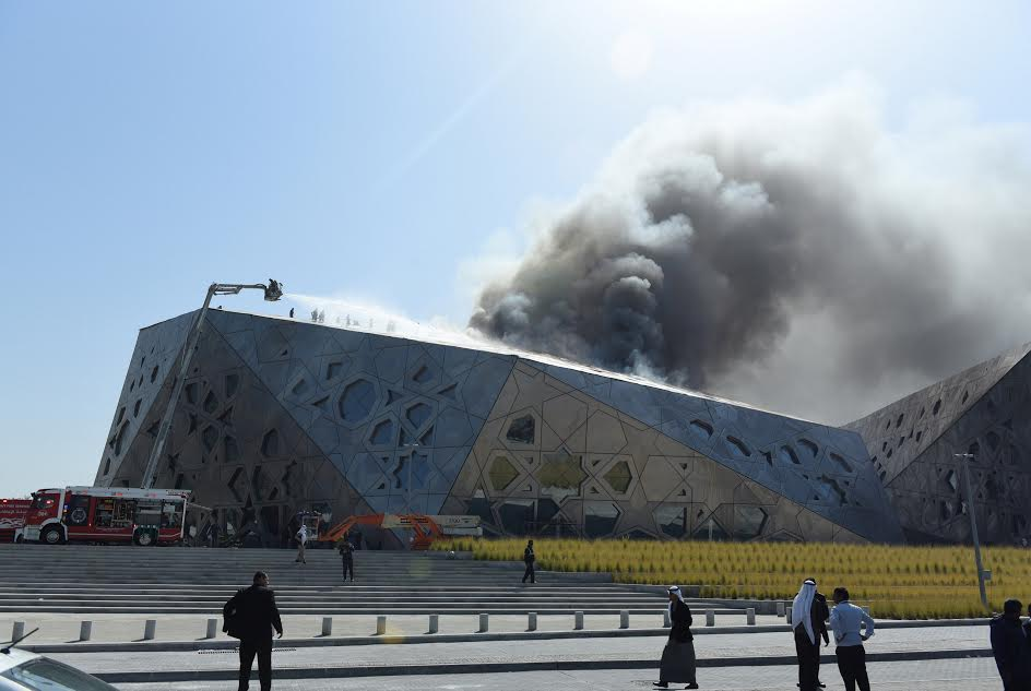 Kuwait opera house hit by blaze three months after opening ...