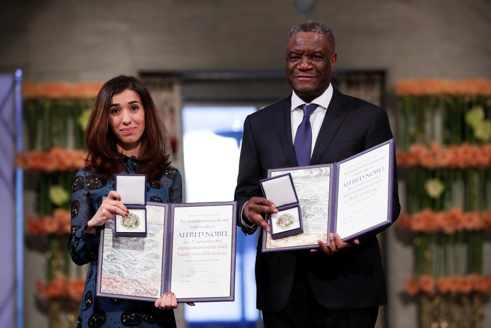 Nadia Murad calls for justice for IS victims at Nobel Peace Prize ceremony