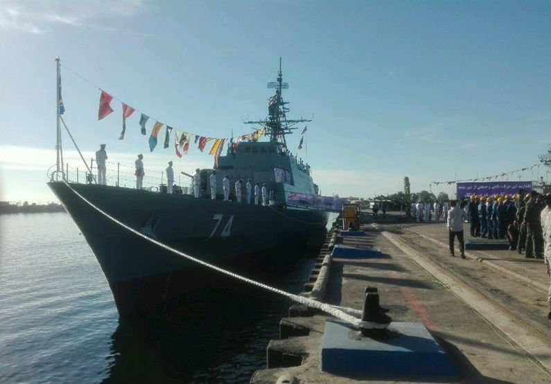 Iran navy launches stealth warship in Gulf amid plans for Venezuela visit
