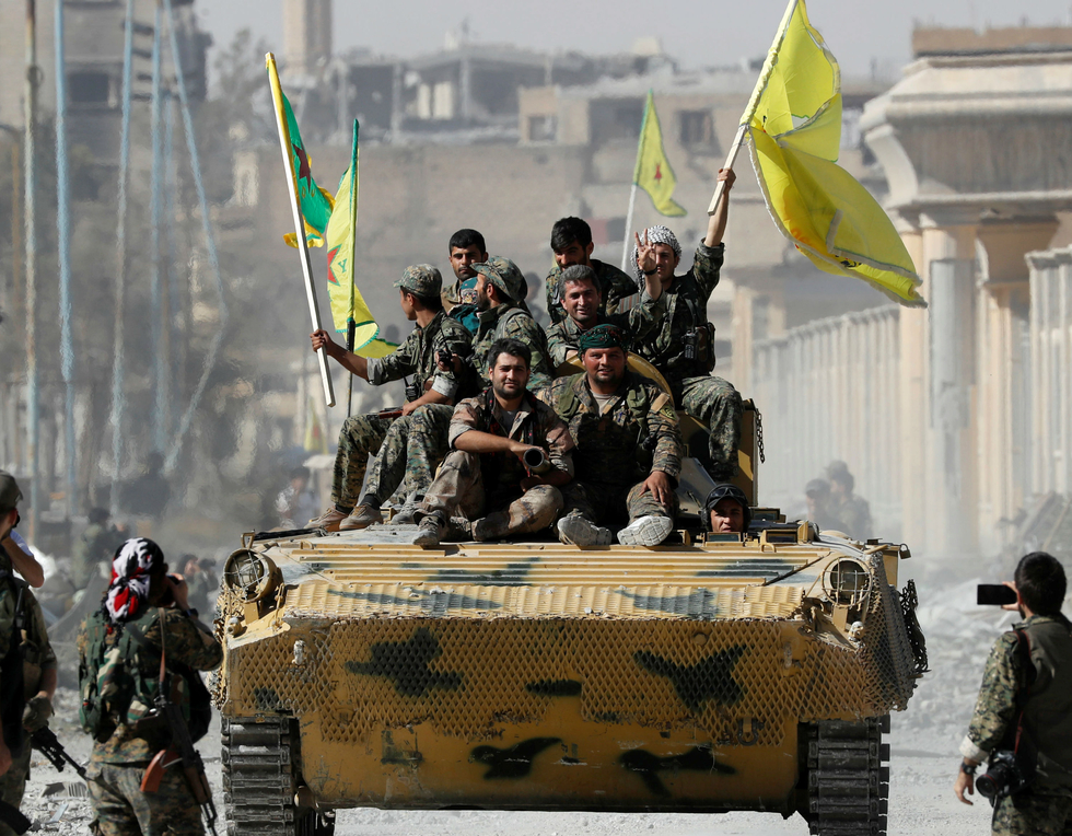 US commanders recommend letting Kurdish fighters in Syria keep weapons
