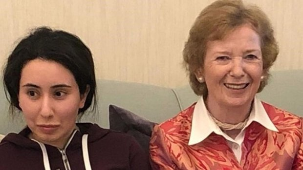 Former UN Rights Commissioner Mary Robinson says she was 'misled' when she met with Latifa (UAE Ministry of Foreign Affairs and International Cooperation)