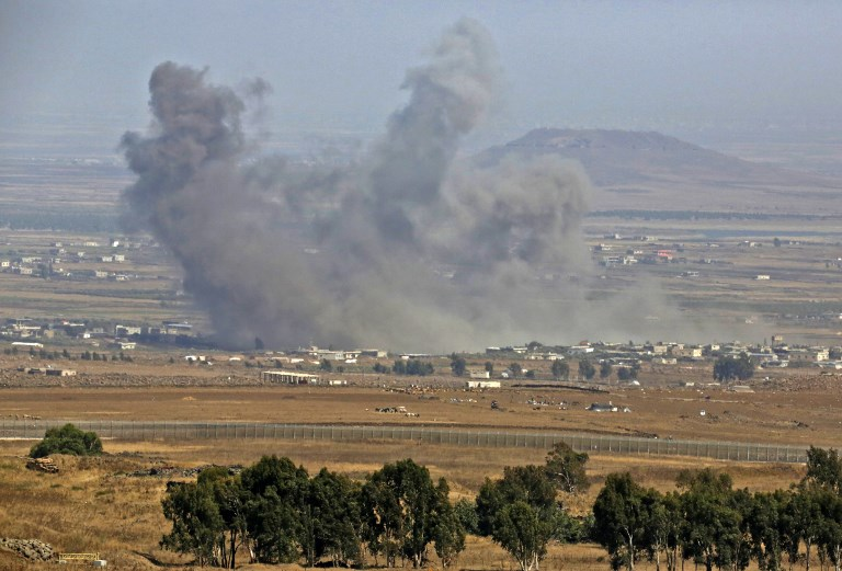 Russian-backed air strikes hit Islamic State in southern Syria