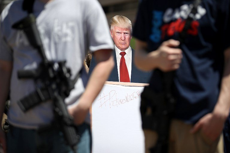 Trump's gun-law speech sparks anger in France, Britain