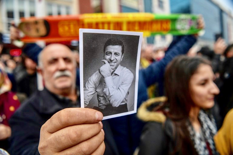 Erdogan calls for his jailed Kurdish political rival to be tried 'quickly'