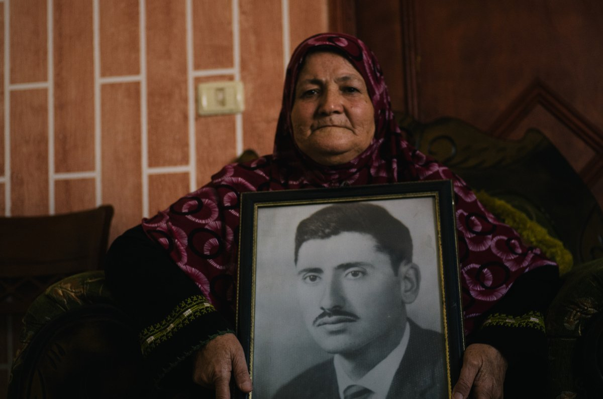 Fatima Masleh's husband Issa's body was never returned after he was killed in 1969
