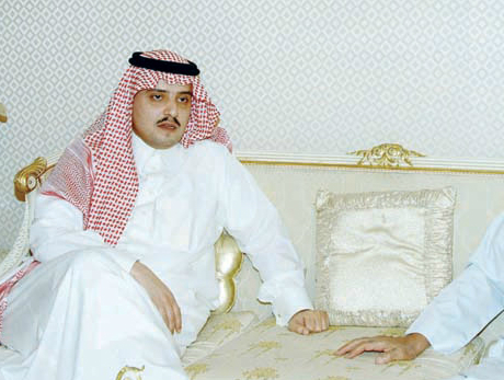 Prince Mohammed and Prince Nawaf, pictured, were reportedly detained while at a private desert camp on Friday