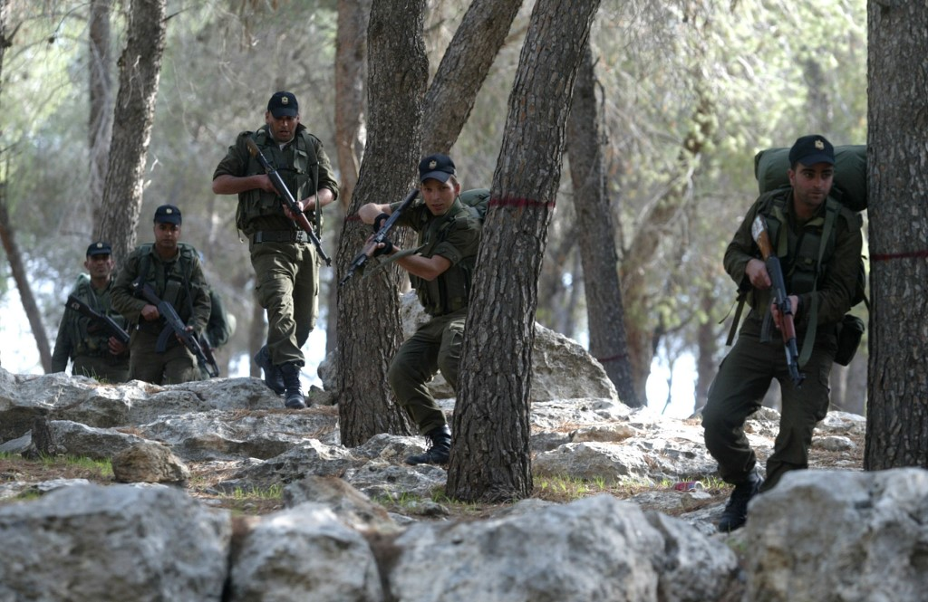 PA security forces take part in a training session in the West Bank town of Jenin in 2009 (AFP)