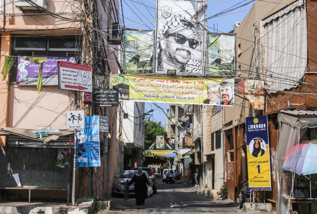 Lebanon's Burj al-Shamali camp for Palestinian refugees is seen on 2 September (AFP)