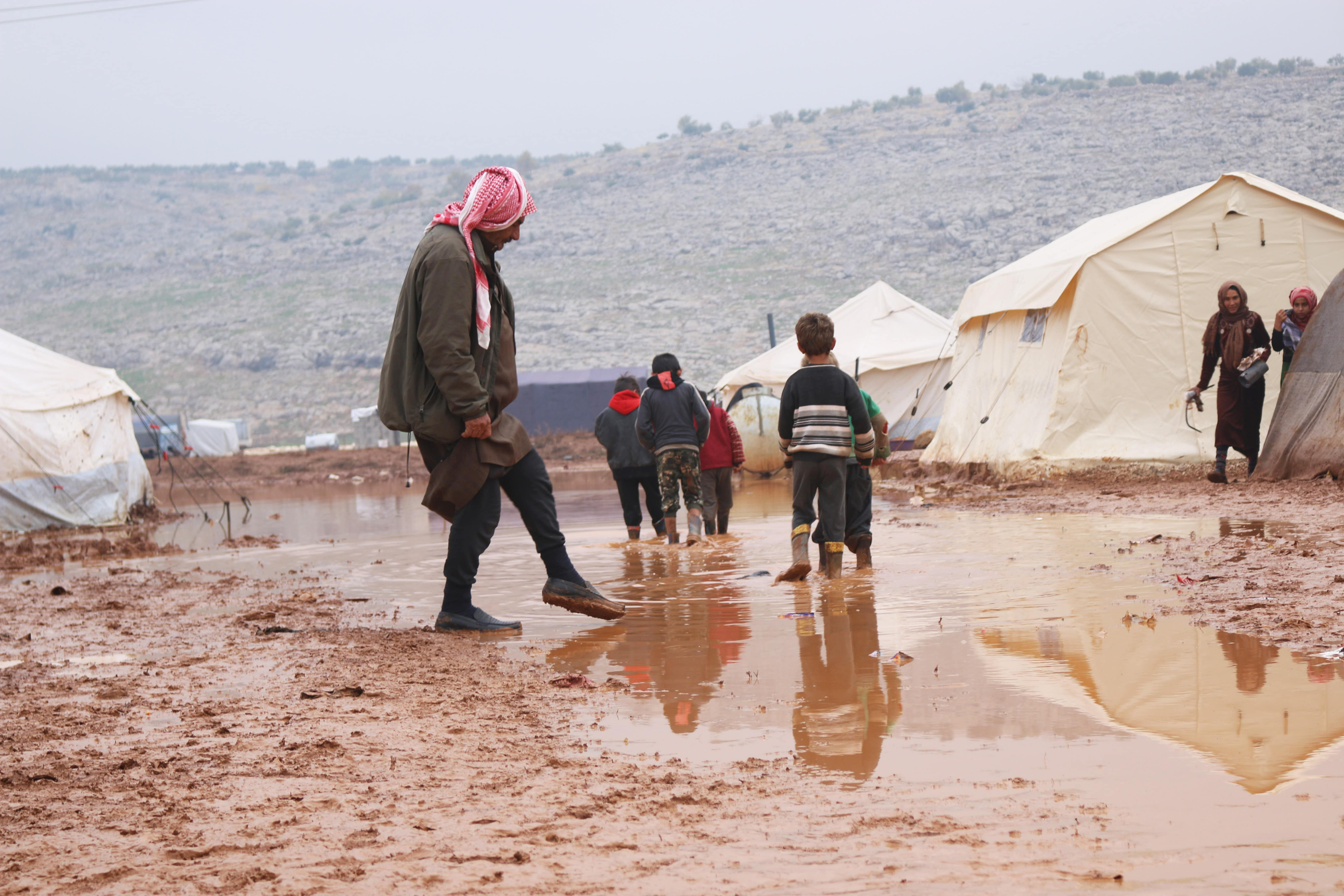 Residents say the situation in the camps has become disastrous since the rains