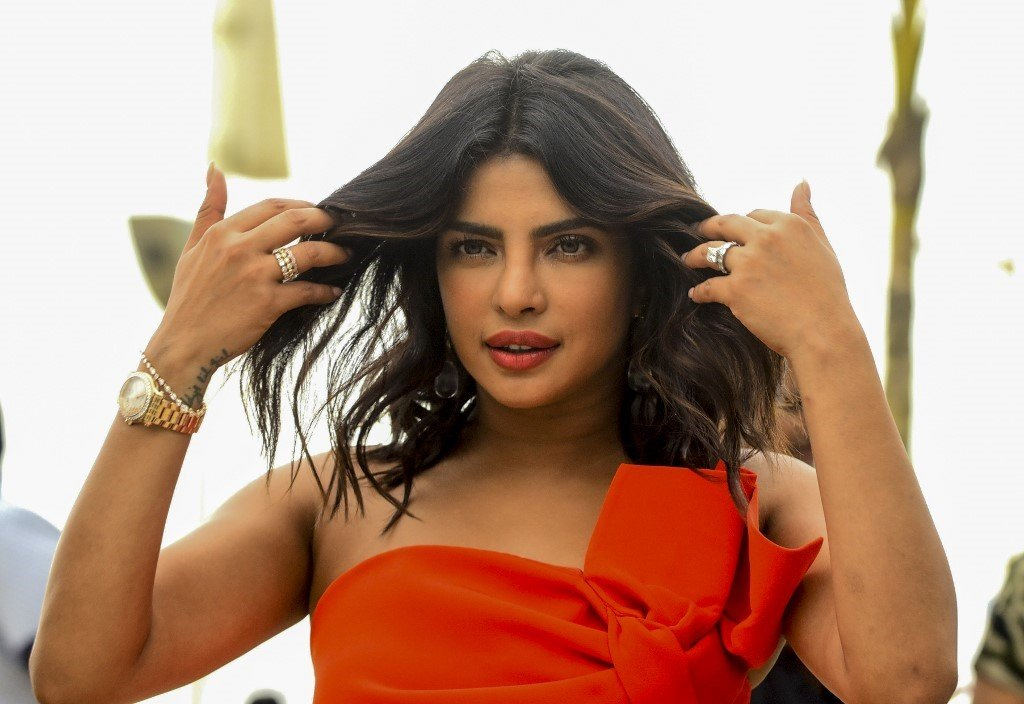 Bollywood star and Unicef peace ambassador Priyanka Chopra was criticised for advocating war with Pakistan over Kashmir (AFP)