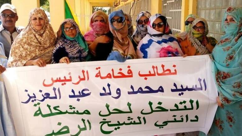 Residents of Taysir denounced the scheme carried out by Sheikh Rada in March, calling on President Mohamed Ould Abdelaziz to intervene (Screengrab)