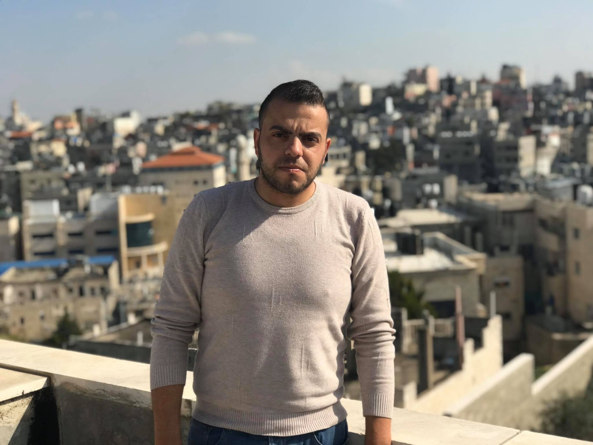 'The Israeli occupation should be responsible for the lives of the Palestinian workers,' Ribal Kurdi says (MEE/Akram al-Waara)