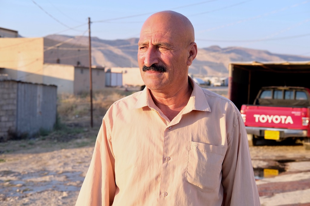 After spending nine months in IS captivity, Salim Hasso Khalaf and his family escaped to Iraq's Kurdish region. (MEE/Elizabeth Hagedorn)