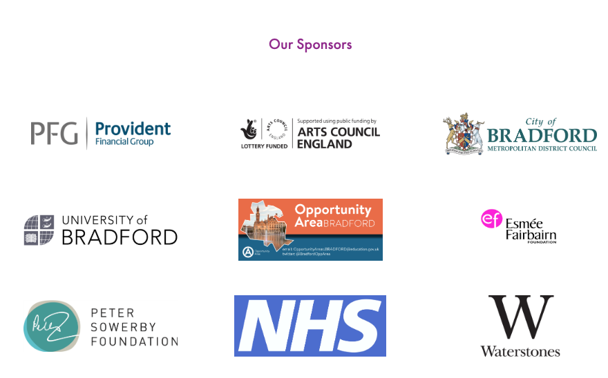 The Bradford Literature Festival did not disclose it received fund from the Building a Stronger Britain together fund on its website (Screengrab)