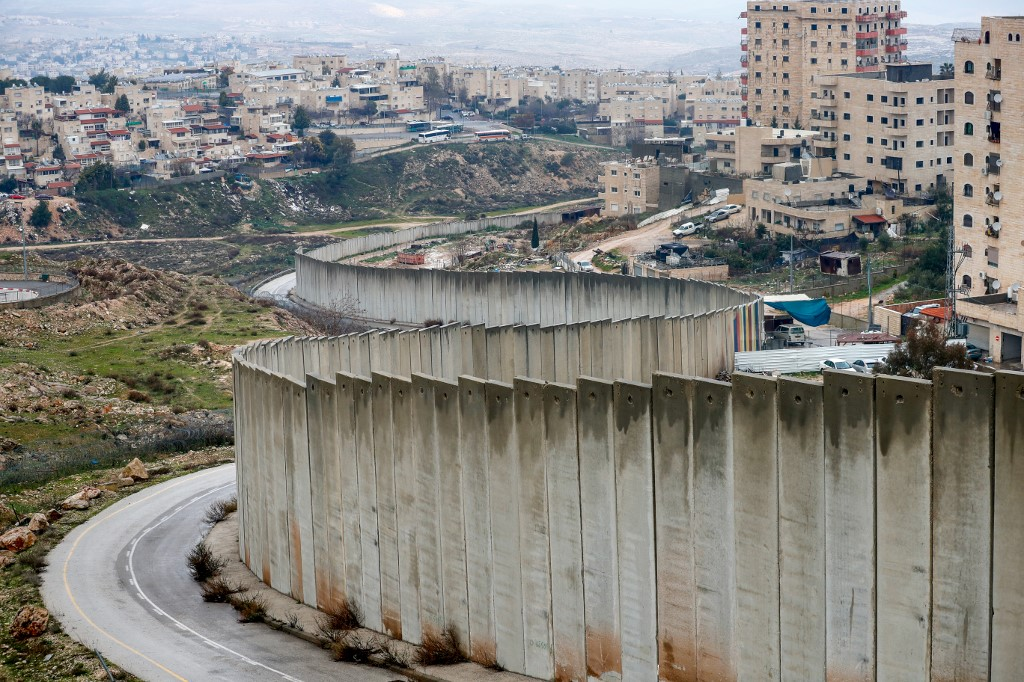 Israel's controversial separation wall is pictured on 11 February (AFP)