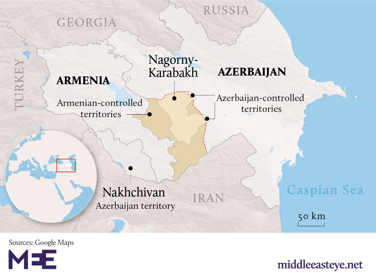Explained Armenia And Azerbaijan S Nagorno Karabakh Conflict Middle East Eye