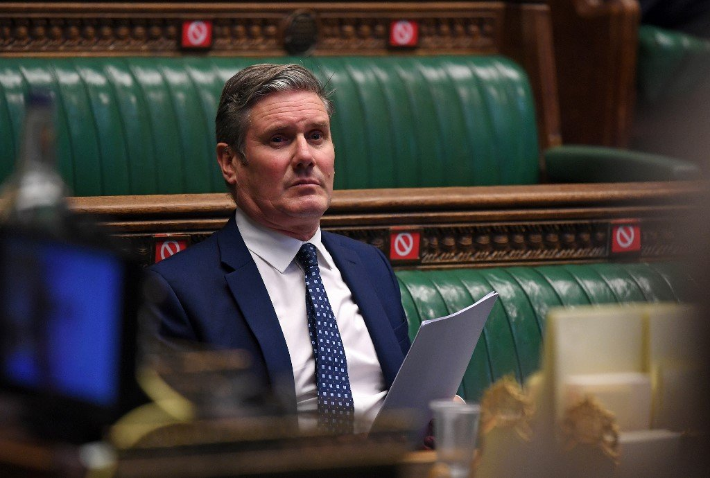 Labour leader Keir Starmer is pictured in the House of Commons on 7 October (UK Parliament/AFP)
