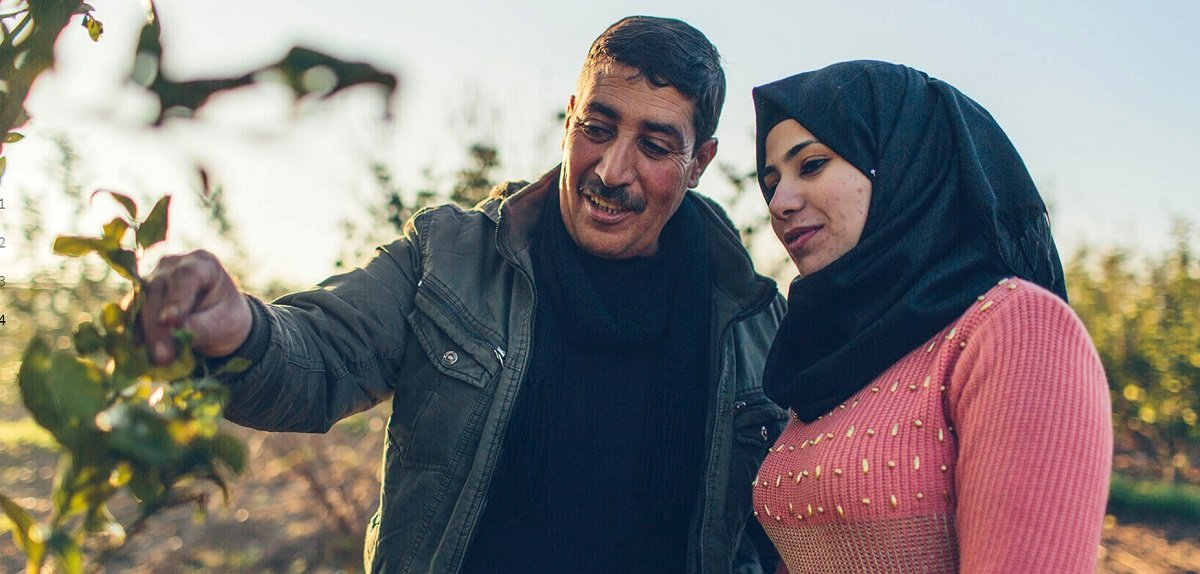 Photo du producteur de fraises Osama Abu al-Rub, qui s'oppose à l'utilisation de ses photos dans la brochure «De la paix à la prospérité» (whitehouse.gov)
