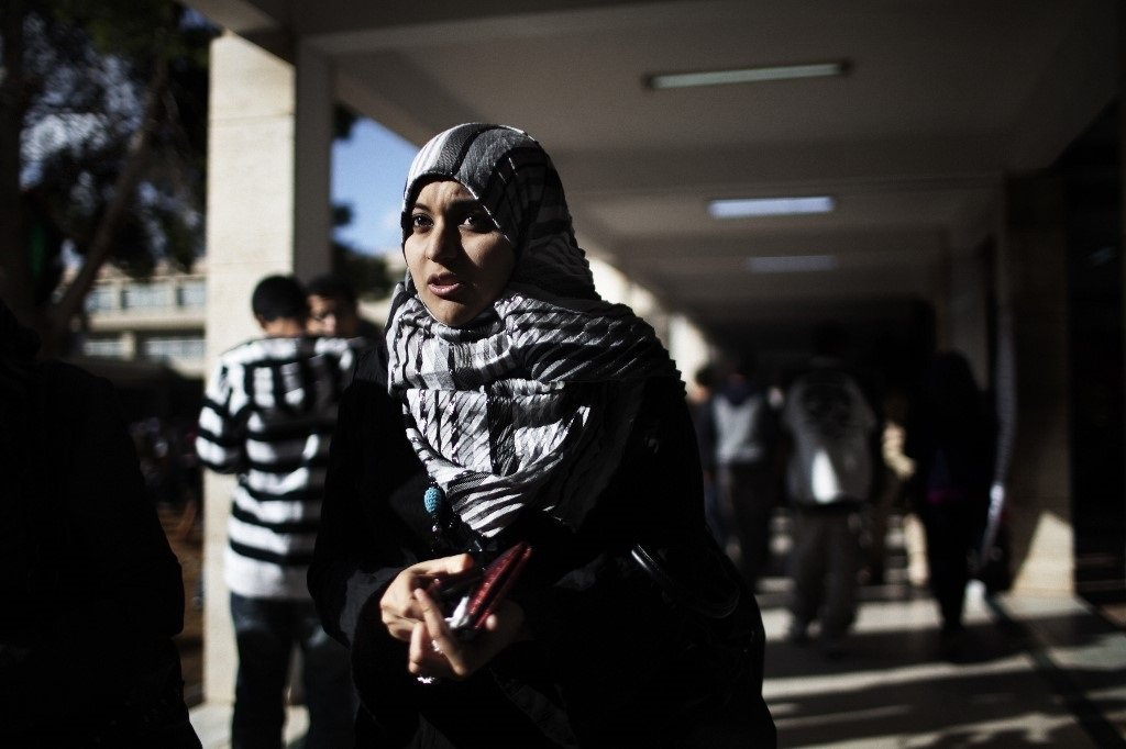 A student at the University of Tripoli (AFP)