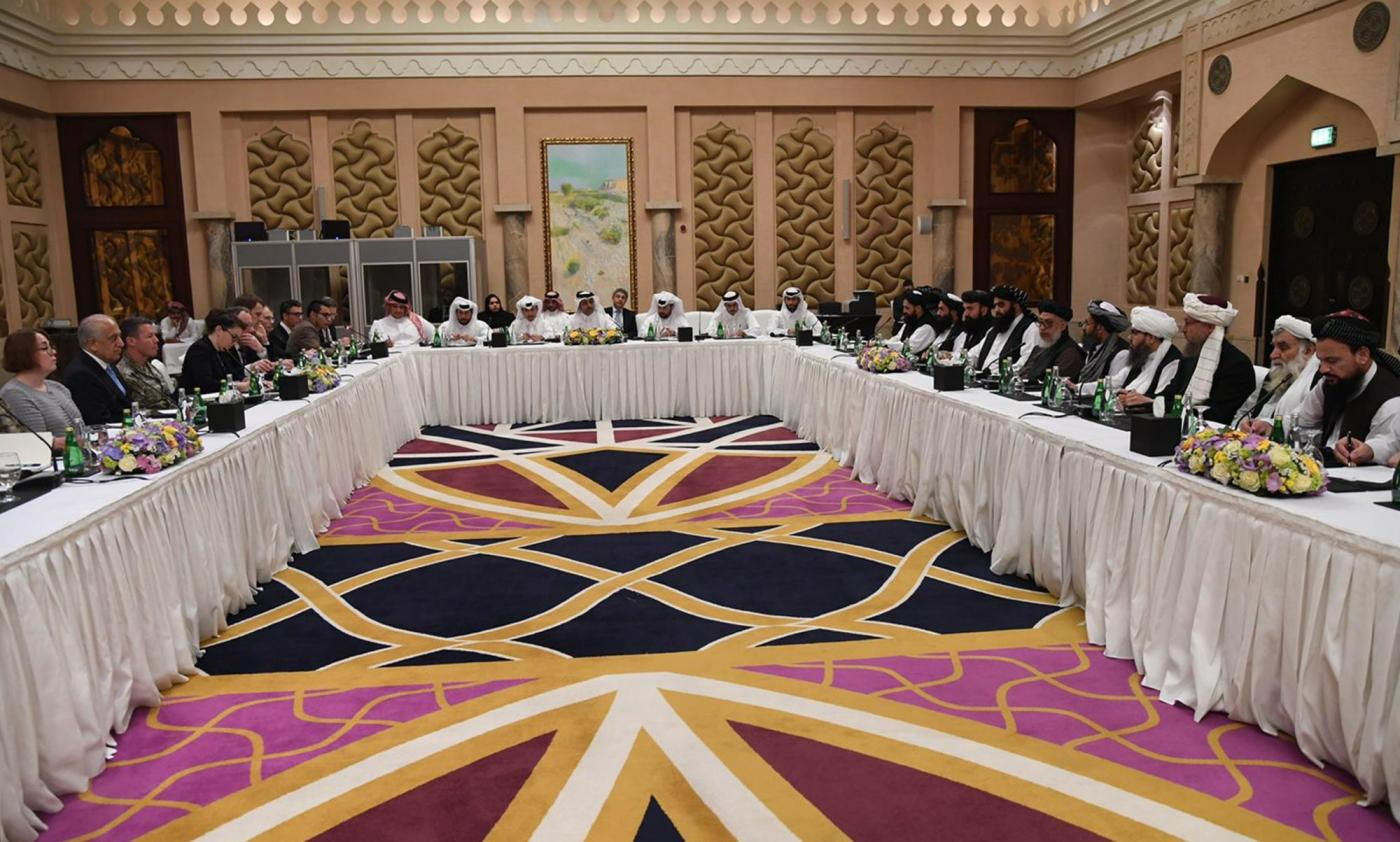 Taliban and US negotiators met in Doha earlier this month (Reuters)