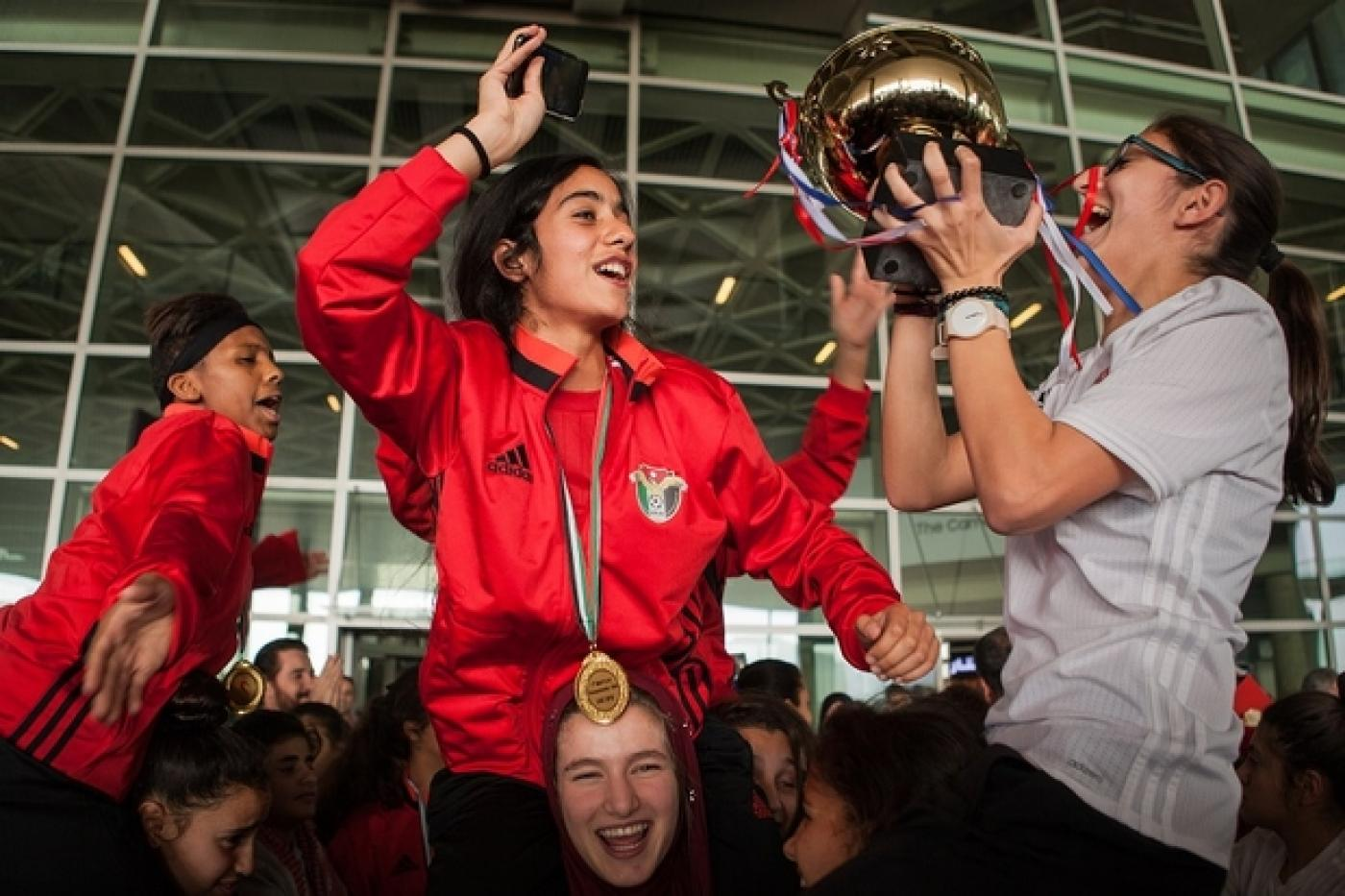 Eyes on the prize: Jordanian girls set their sights on