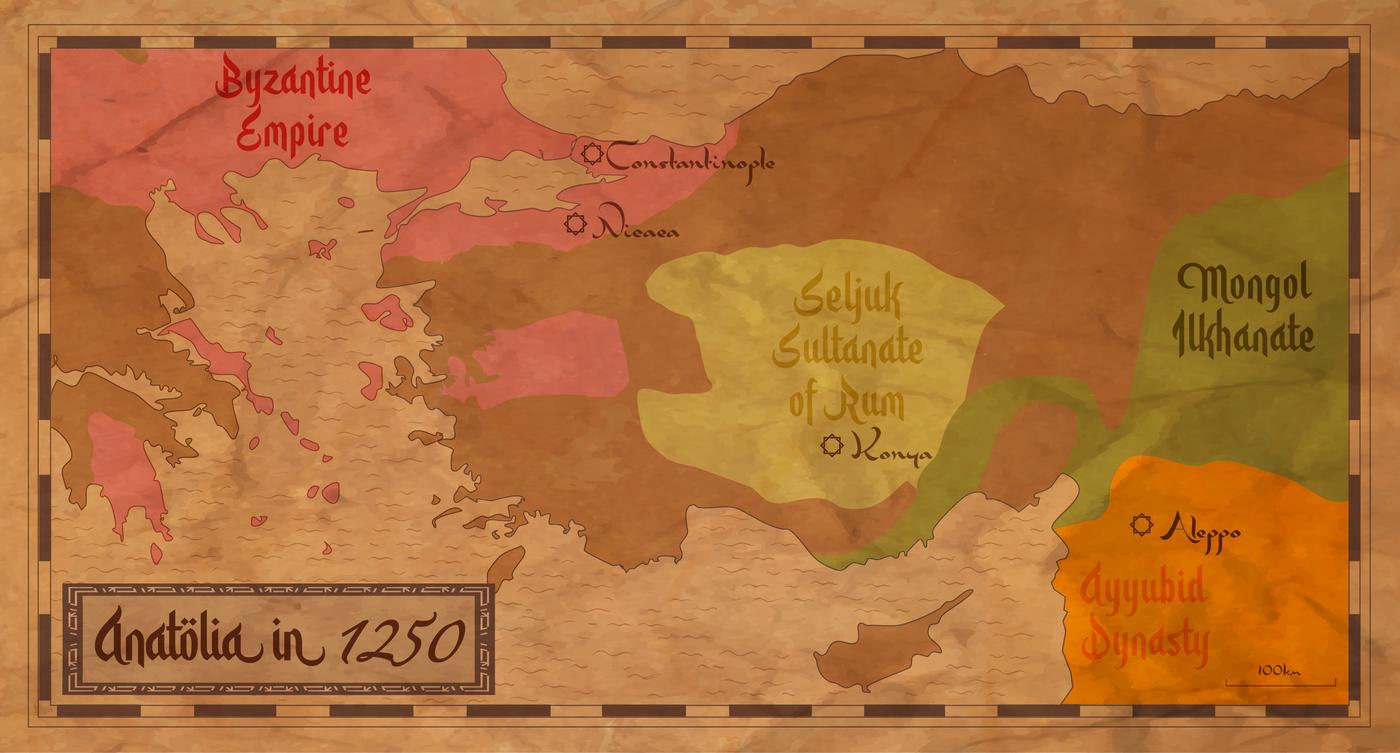 Mapa Anatolije