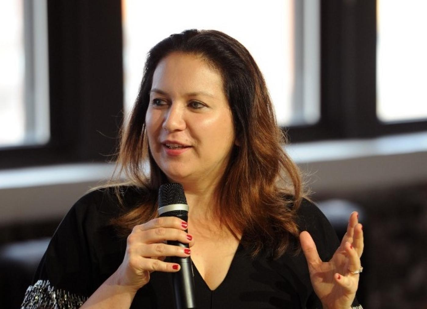 Times reporter Rukmini Callimachi speaks in New York in August 2018 (AFP)