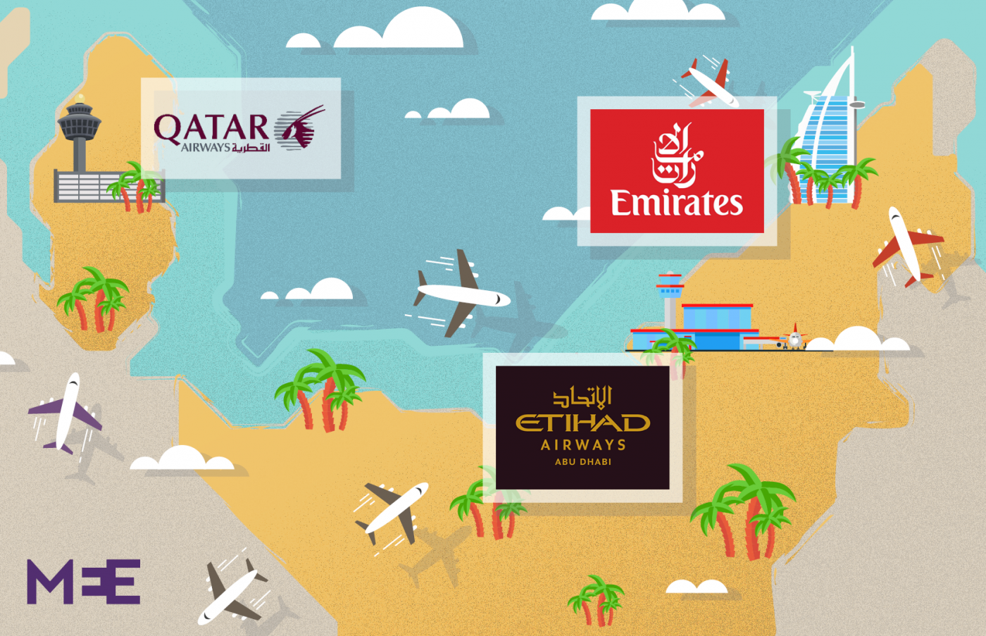 Air wars: How Etihad flopped and rivals soared in Gulf battle for ...