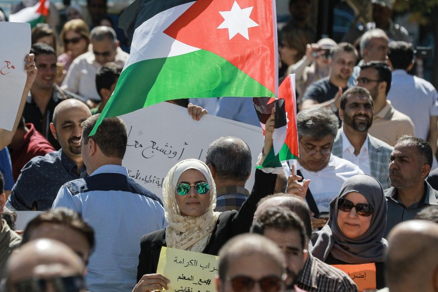 Jordan's teachers continue protests as government cracks down on union
