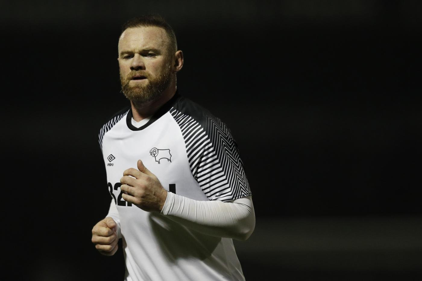 Wayne Rooney joined Derby County in January 2020