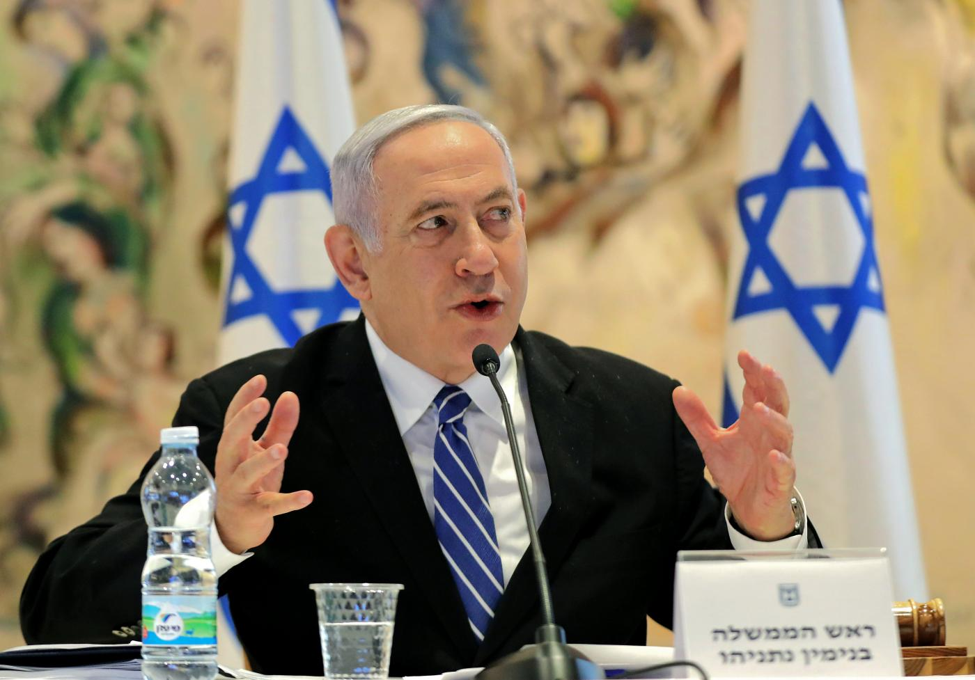 Netanyahu heads to court as 1st sitting Israeli PM on trial