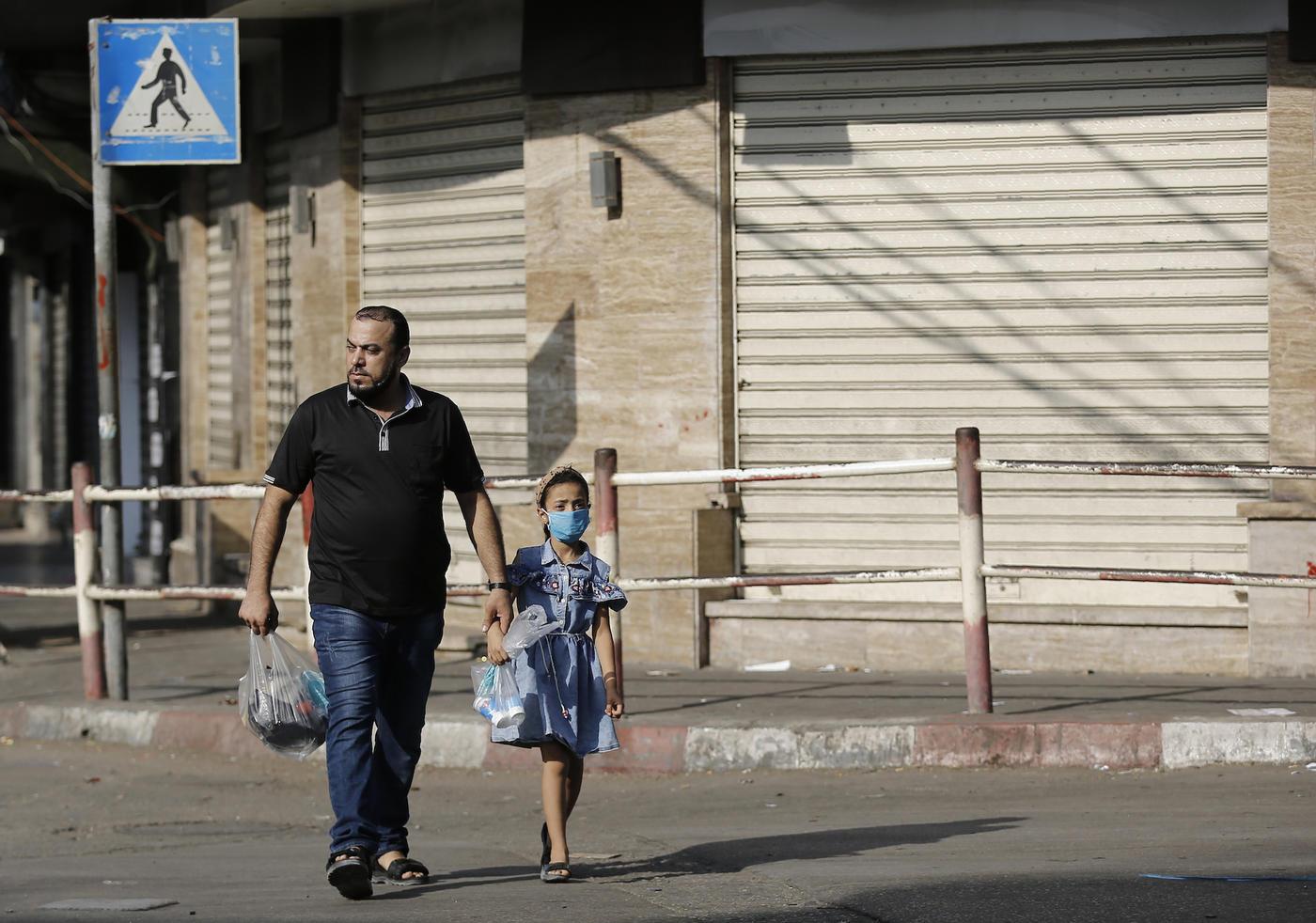 Un couvre-feu a été décrété dans toute la bande de Gaza le 25 août et reconduit pour dix jours renouvelables (AFP)