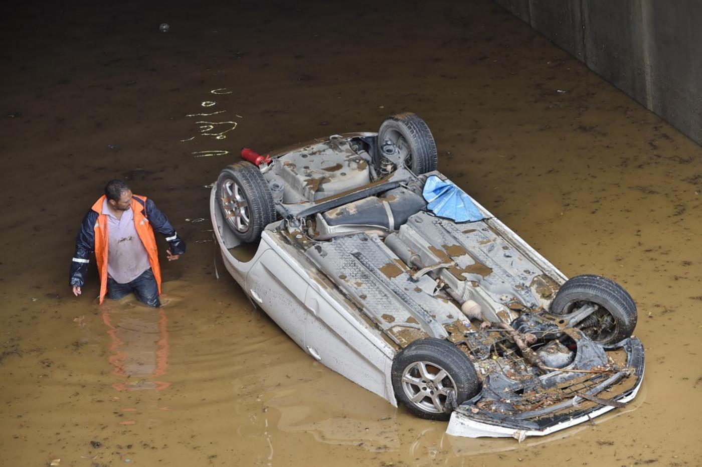 Alger-centre au lendemain de la tempête, le 8 septembre 2020 (AFP)