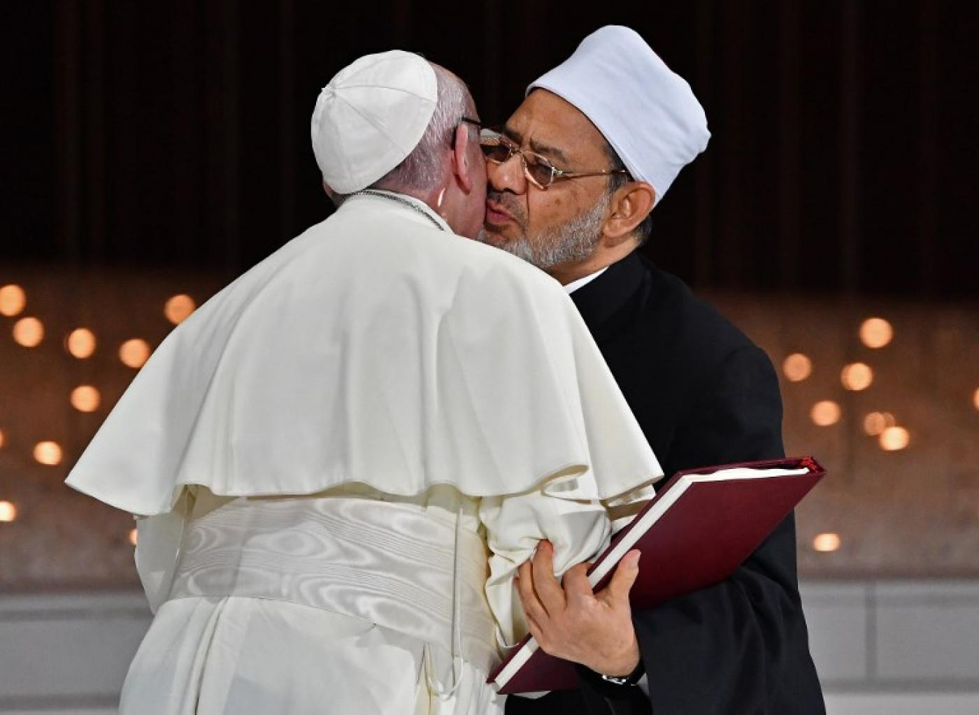 Image result for pope and islam leader
