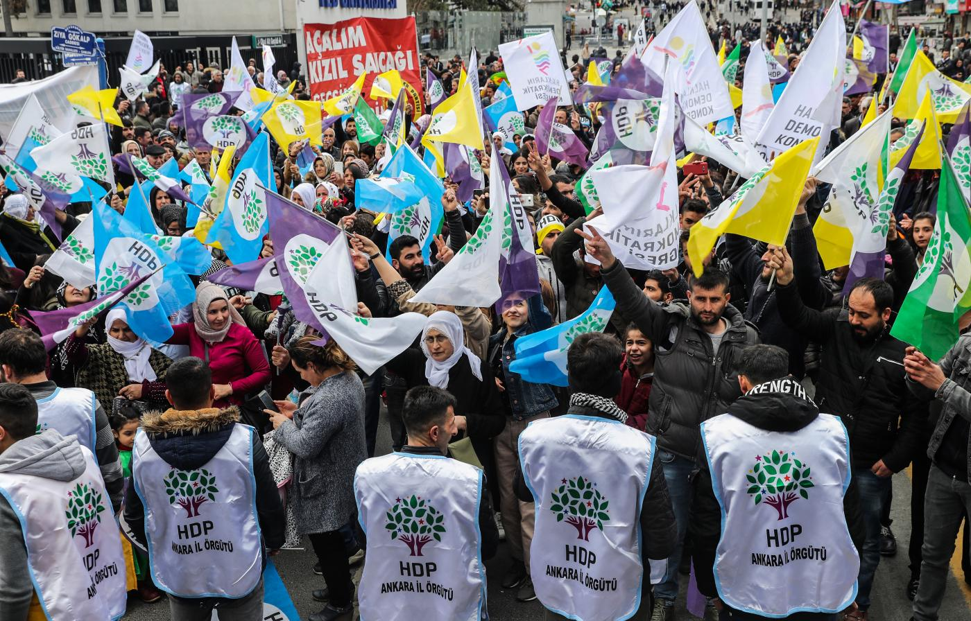 HDP supporters rally