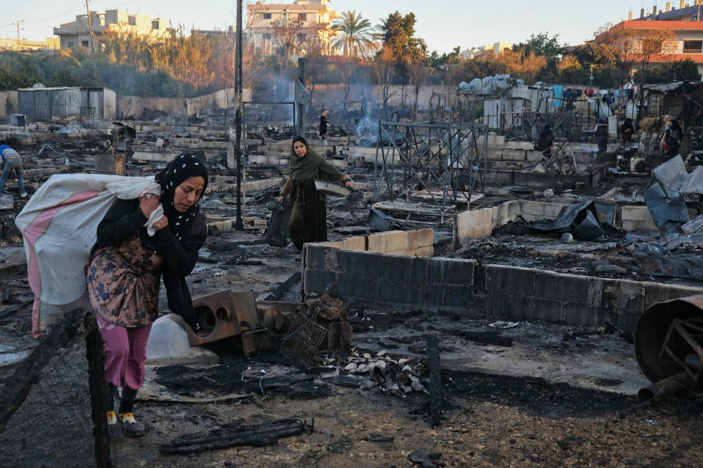 Syrian refugee camp burned to ground in northern Lebanon