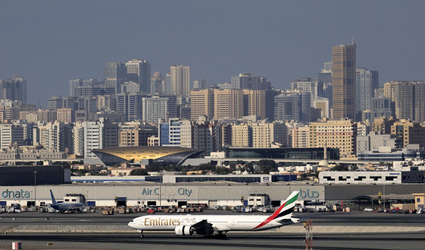 Aviation networks, infrastructure and laissez-faire policies have helped the Gulf city become the business hub of the Middle East and Africa. Dubai International Airport, 1 February, 2021. (Karim Sahib/AFP)
