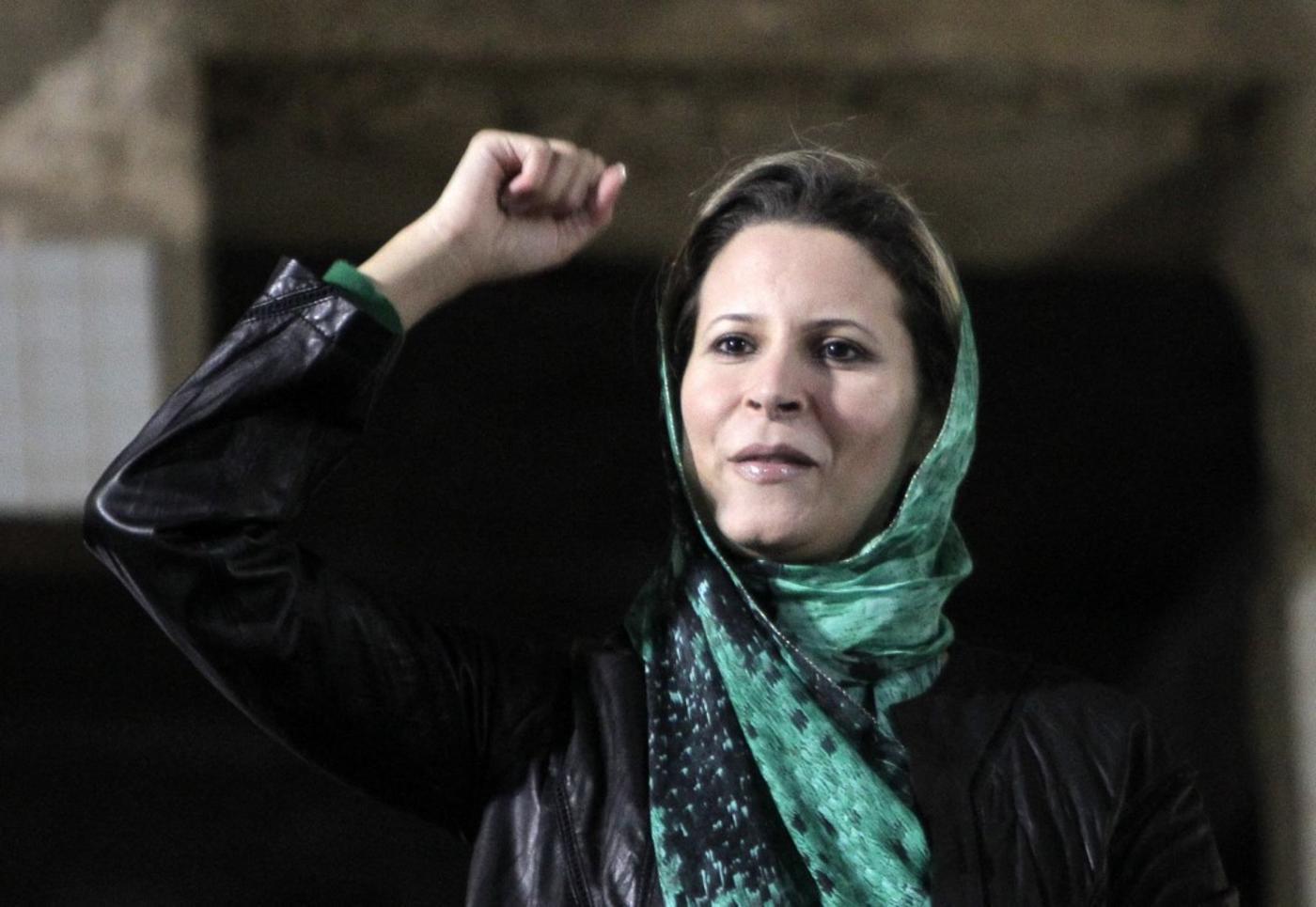 Aïcha Kadhafi, fille du «Guide» libyen, à Tripoli, en avril 2011 (AFP)