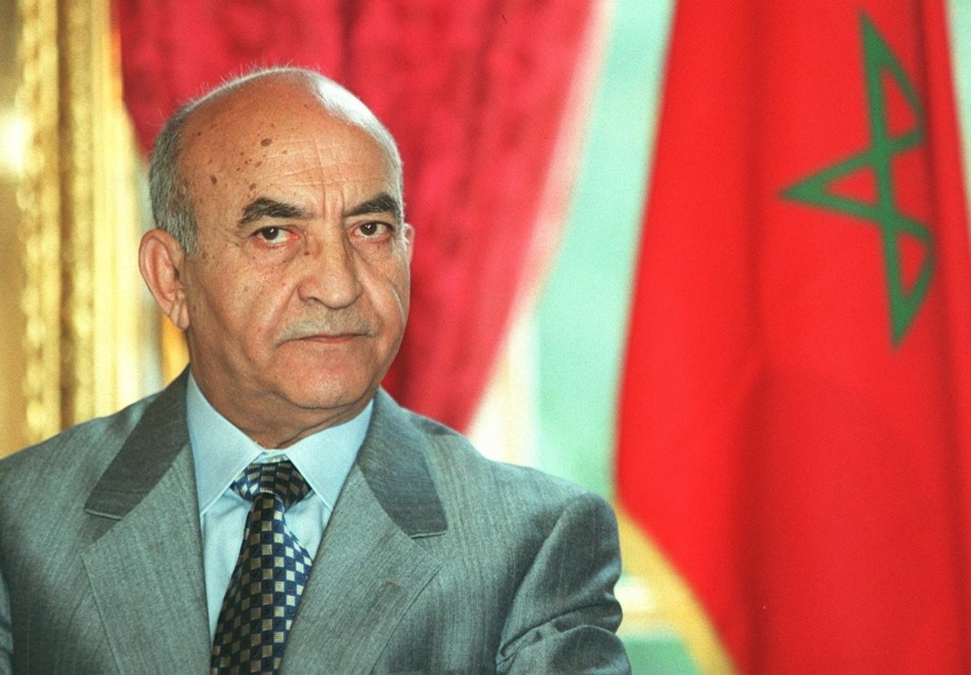 L'ex-Premier ministre marocain, Abderrahman Youssoufi le 2 octobre 1998 à l'hôtel de Matignon à Paris (AFP)