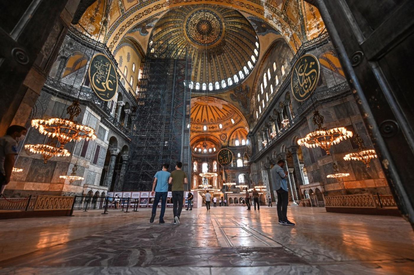 Erdogan defends converting Istanbul's Hagia Sophia against ...