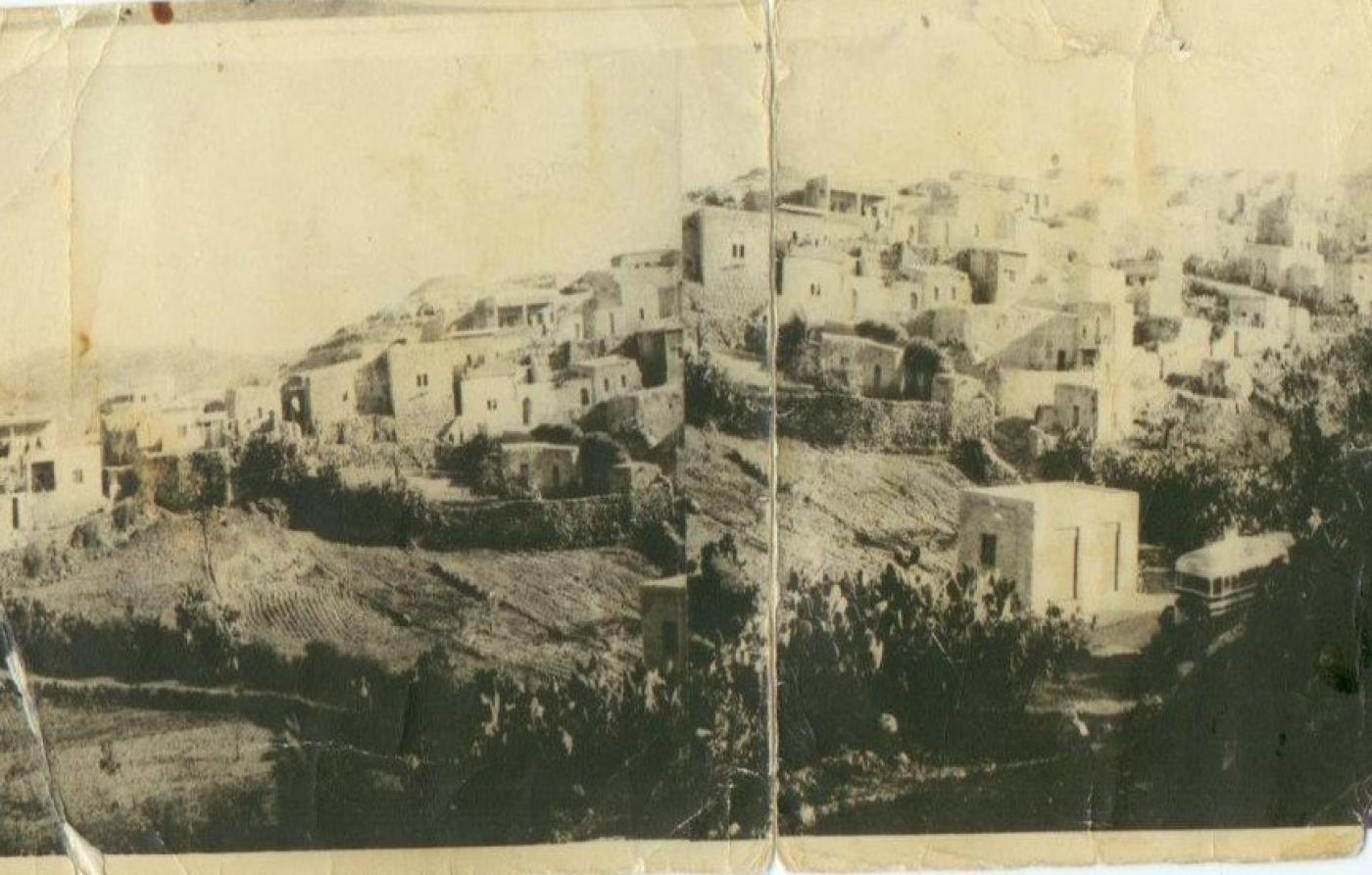 An undated picture of Yalu village before its destruction by Israel. The village is located between the Occupied West Bank and the Green Line (Credit: Palestineremembered.com)