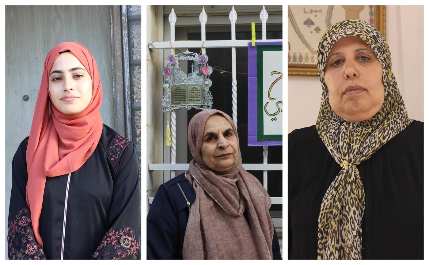 De gauche à droite, Muna al-Kurd, Salwa Skafi et Nuha Attieh (MEE)